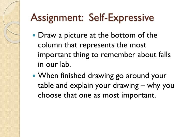 Assignment:  Self-Expressive