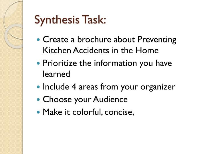 Synthesis Task: