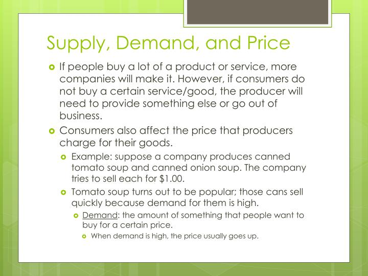 Supply, Demand, and Price