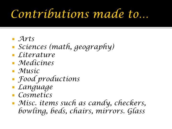 Contributions made to…