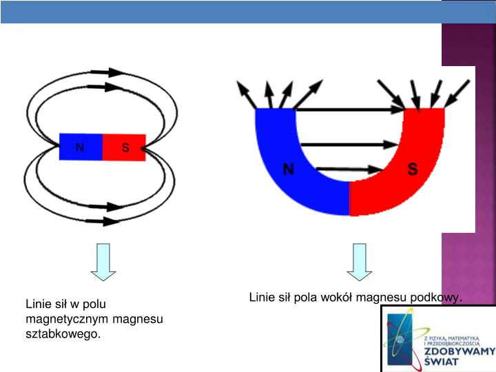 Linie si pola wok magnesu podkowy