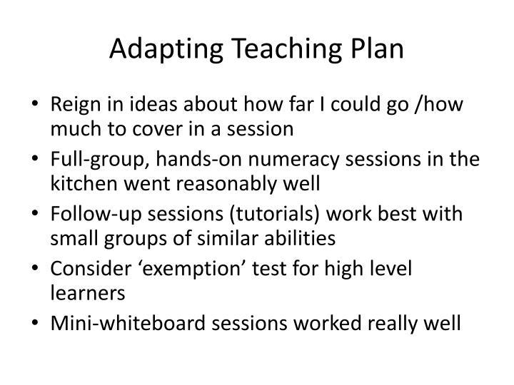 Adapting Teaching Plan