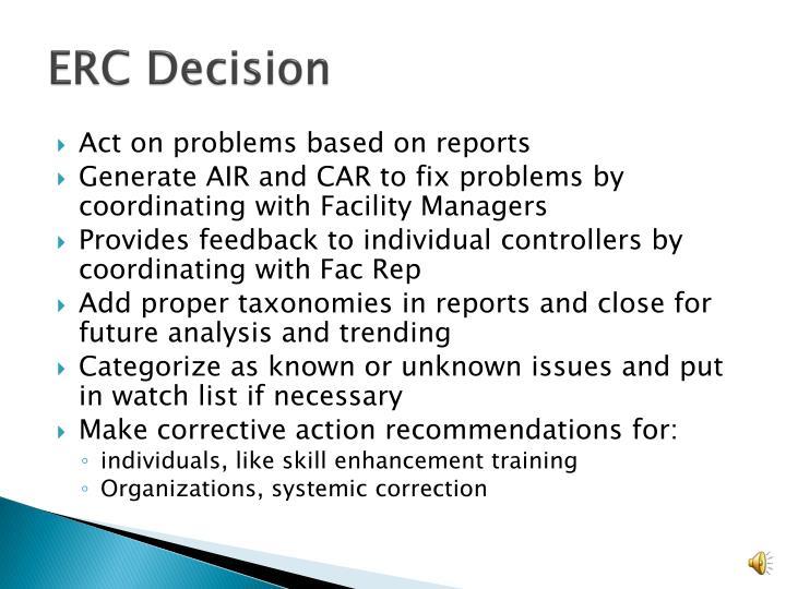 ERC Decision