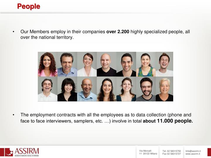 Our Members employ in their companies