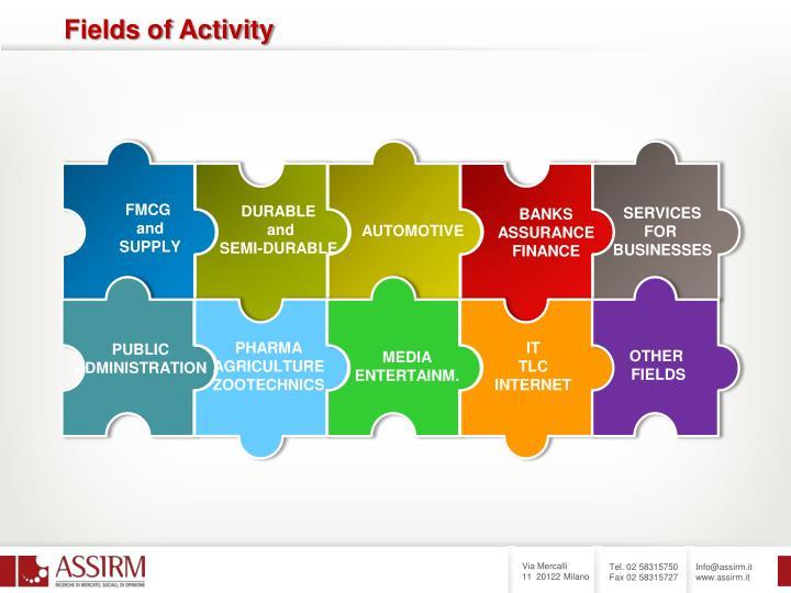 Fields of Activity