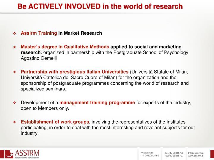 Assirm Training