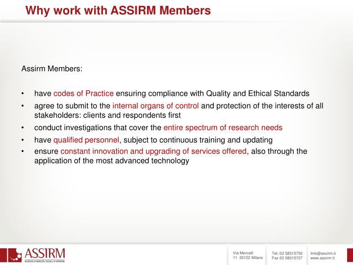 Assirm Members: