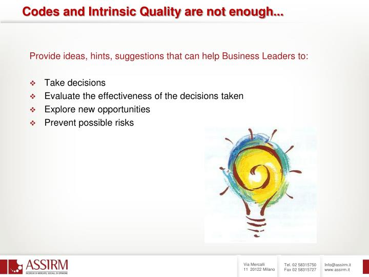 Provide ideas, hints, suggestions that can help Business Leaders to: