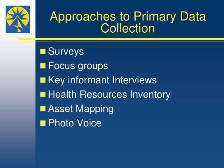 Approaches to primary data collection
