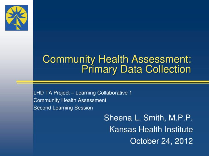 Community health assessment primary data collection
