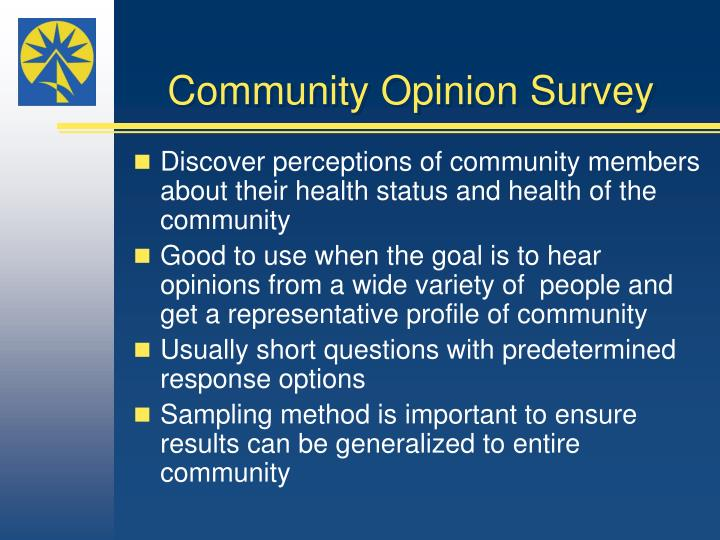 Community Opinion Survey