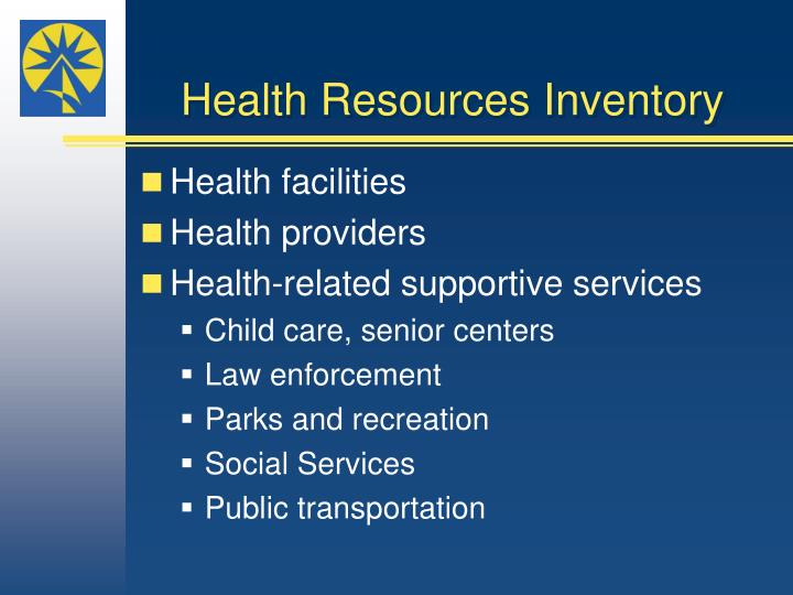 Health Resources Inventory