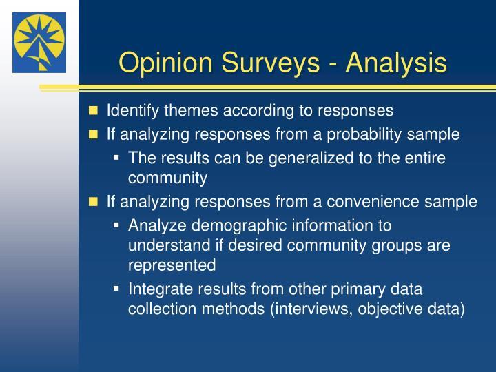 Opinion Surveys - Analysis