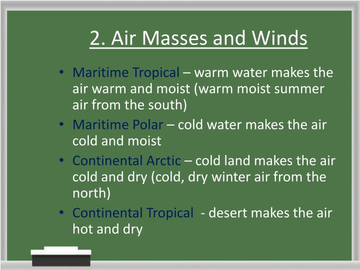 2. Air Masses and Winds