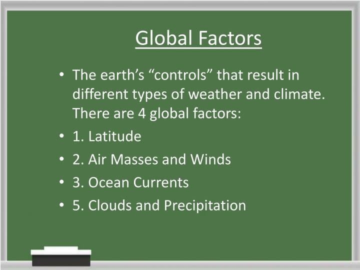 Global Factors
