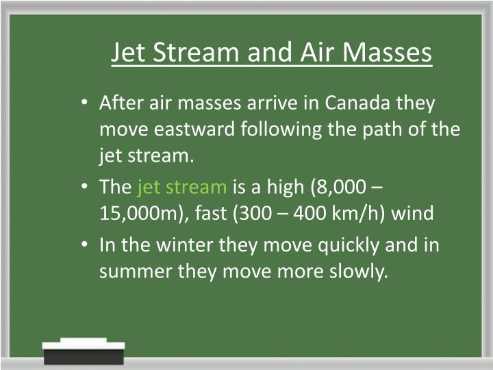 Jet Stream and Air Masses