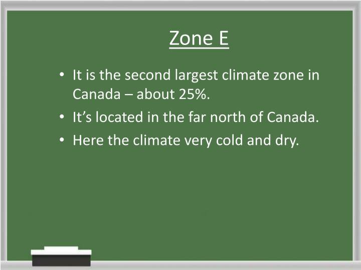 Zone E