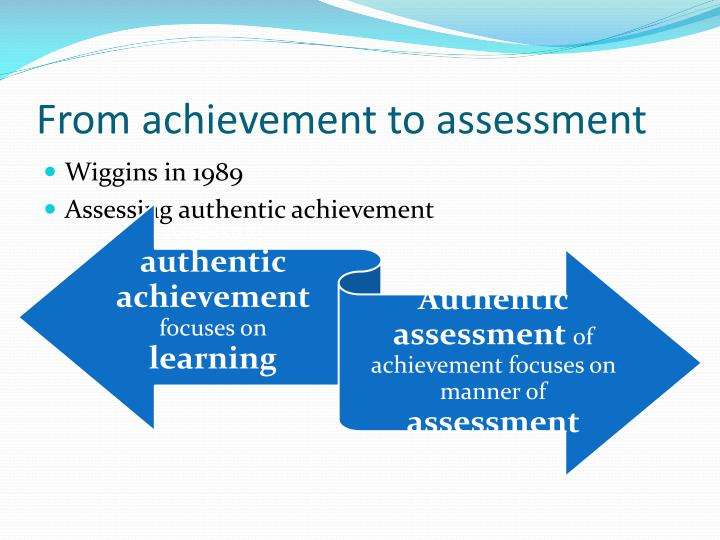 From achievement to assessment