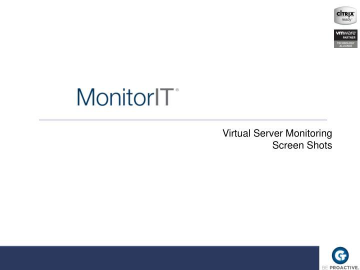 Virtual Server Monitoring