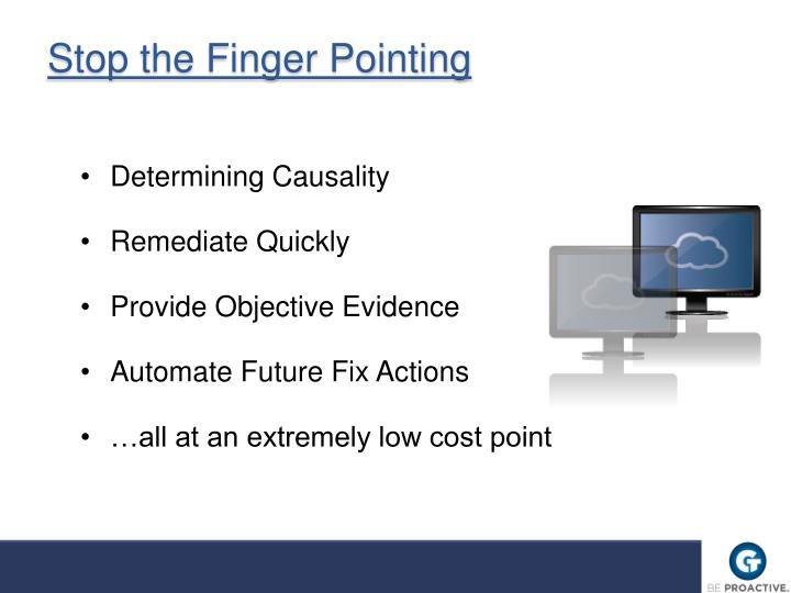 Stop the Finger Pointing