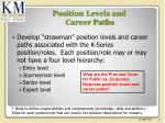 position levels and career paths