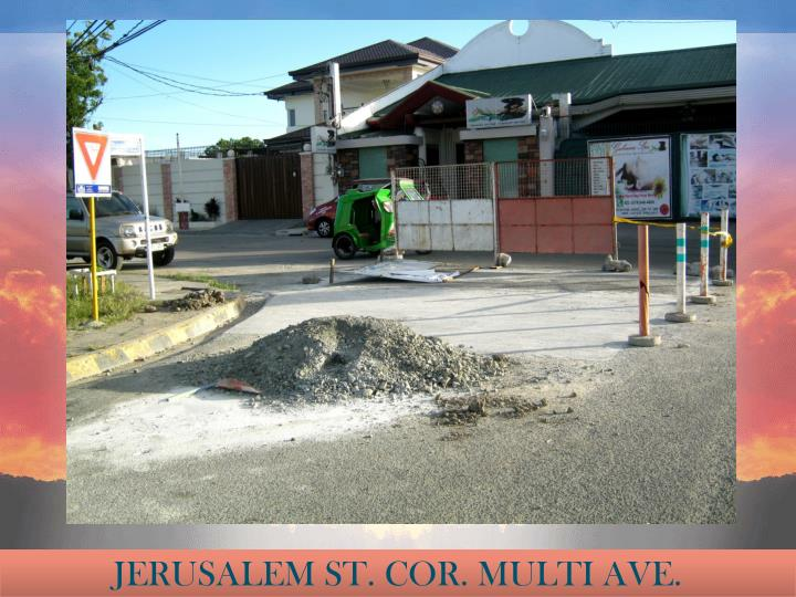JERUSALEM ST. COR. MULTI AVE.
