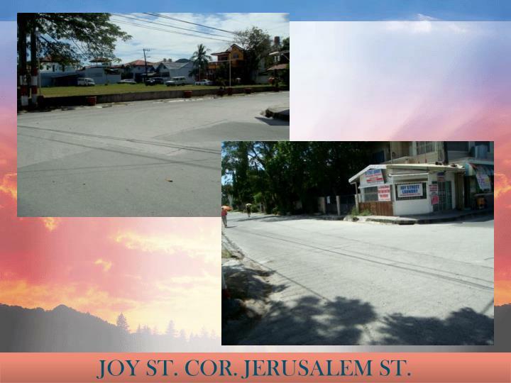 JOY ST. COR. JERUSALEM ST.