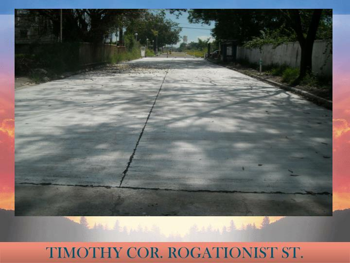 TIMOTHY COR. ROGATIONIST ST.