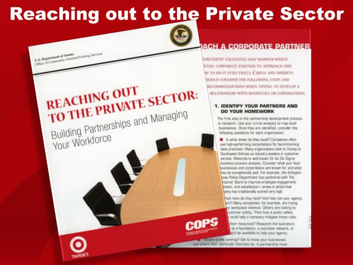 Reaching out to the Private Sector