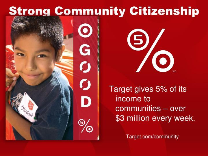 Strong Community Citizenship