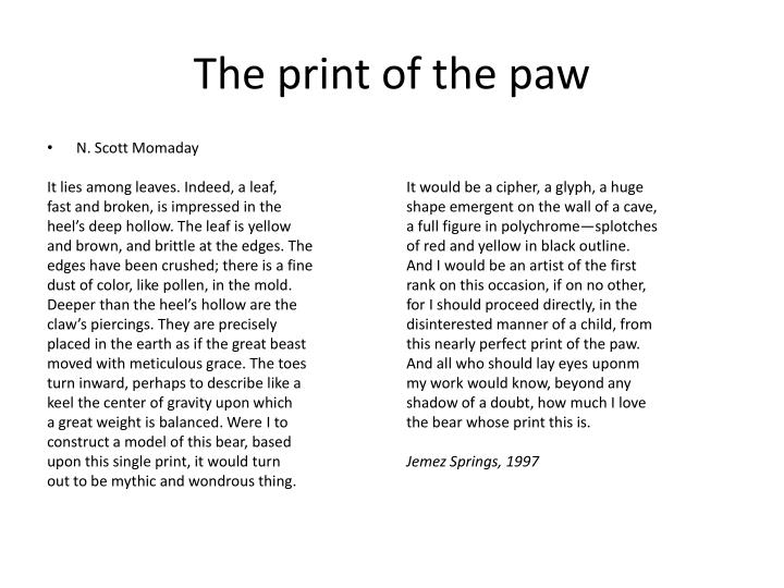 The print of the paw