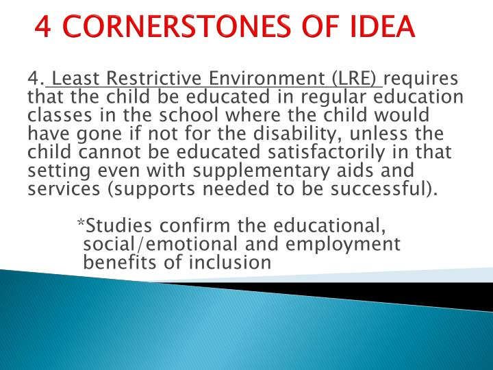 4 cornerstones of idea1