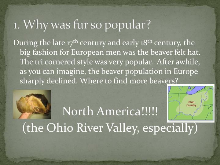 1. Why was fur so popular?