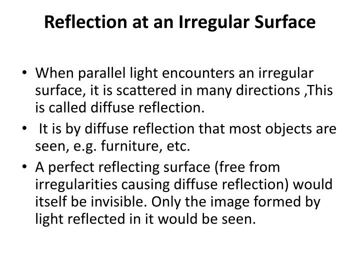 Reflection at an Irregular Surface