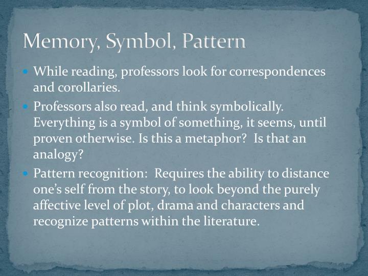 Memory, Symbol, Pattern