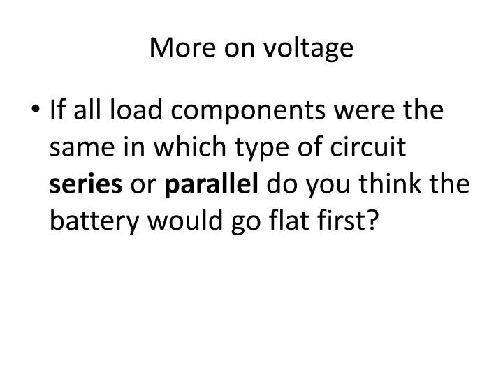 More on voltage