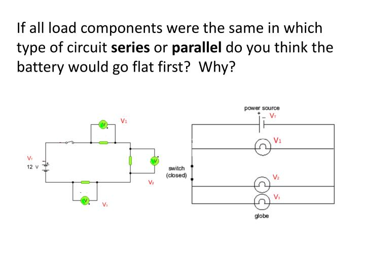 If all load components were the same in which type of circuit