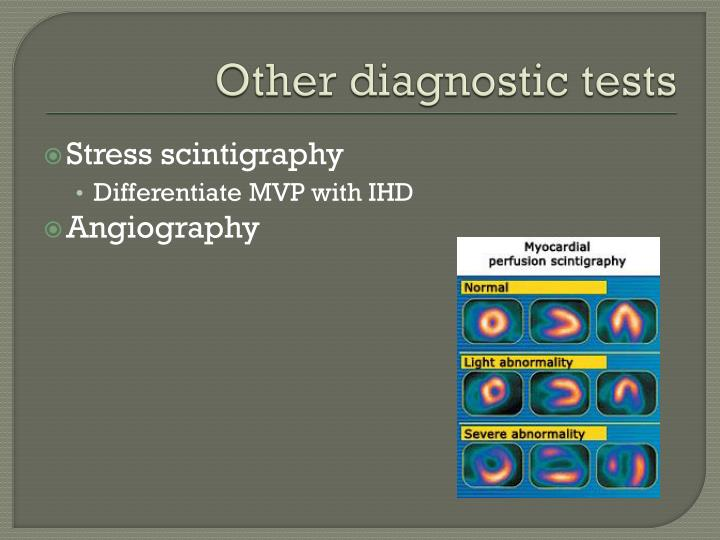 Other diagnostic tests