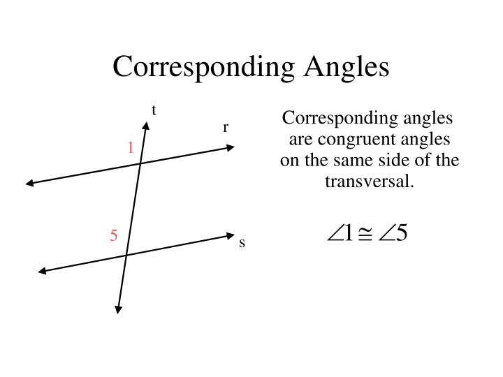 Ppt angles formed by transversal and parallel lines - Same side exterior angles are congruent ...
