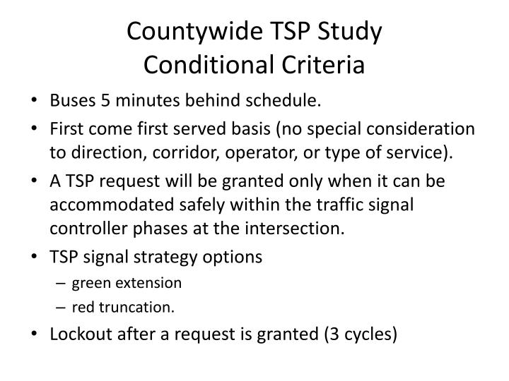 Countywide TSP Study