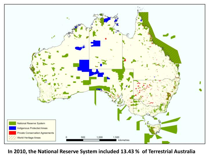 In 2010, the National Reserve System included
