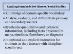 reading standards for history social studies