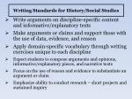 writing standards for history social studies