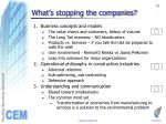 what s stopping the companies