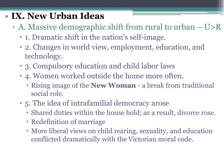 IX. New Urban Ideas