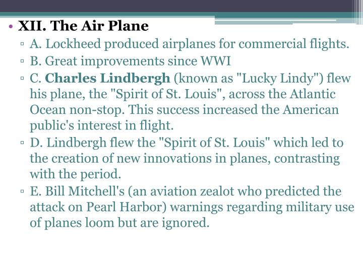 XII. The Air Plane