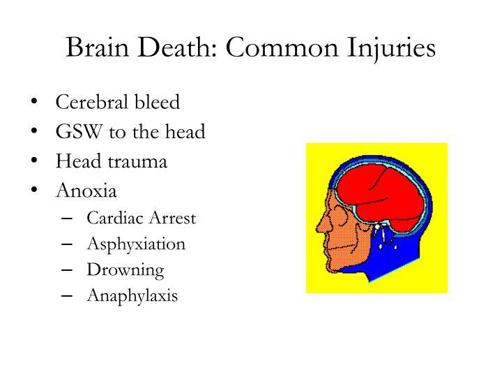 Brain Death: Common Injuries