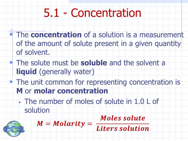 5.1 - Concentration