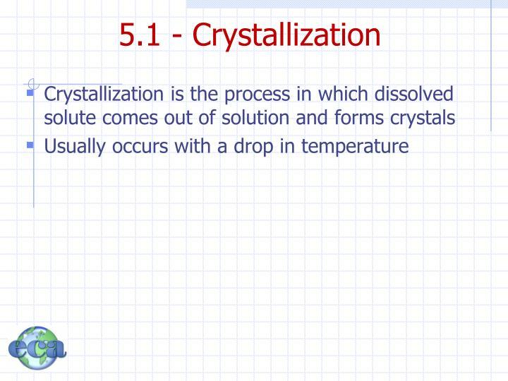 5.1 - Crystallization