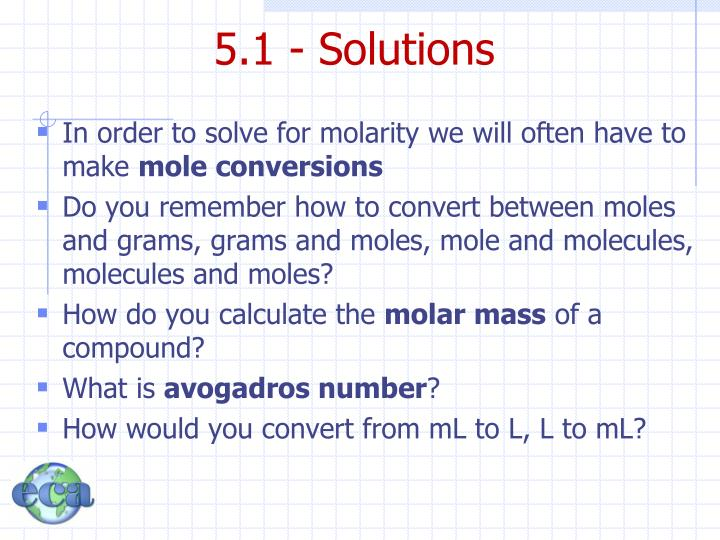 5.1 - Solutions